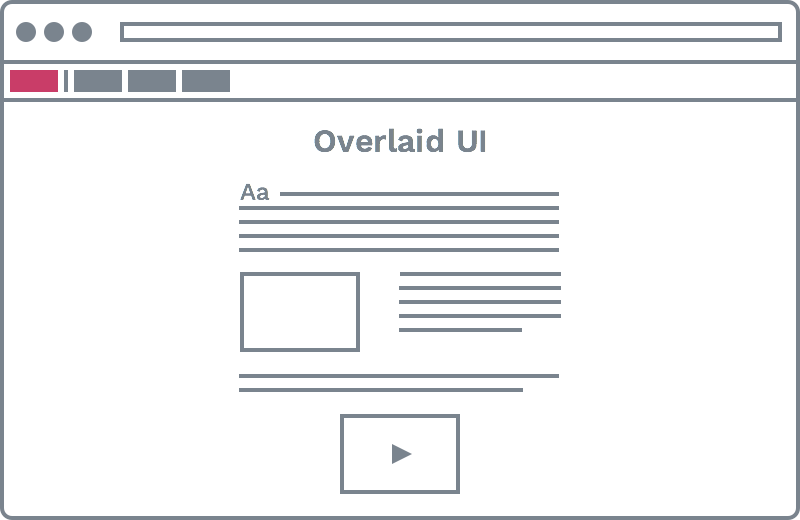 Overlaid UI icon